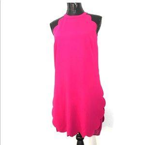 A.L.C. Magenta scalloped dress. Size 8